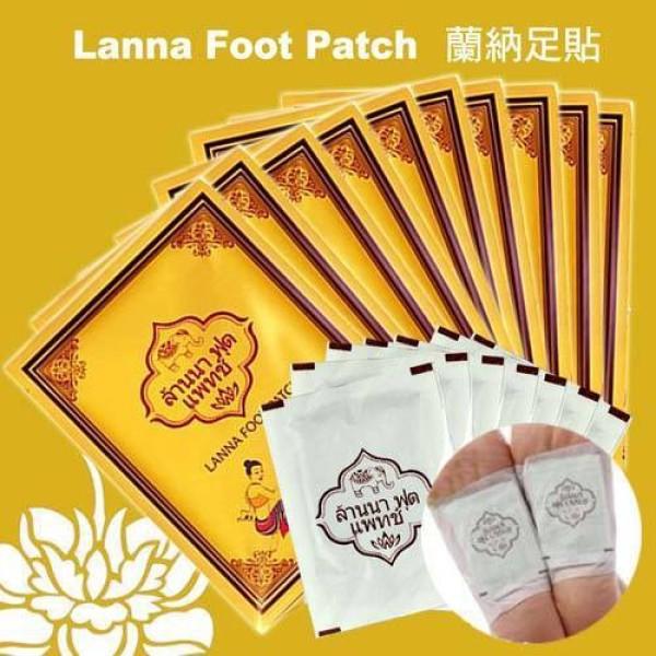 Bịch 10 Miếng Dán Thải Độc Chân Lana Foot Match Thái Lan, miếng dán thải độc chân cao cấp