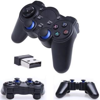 Tay cầm chơi game PC Laptop Điện Thoại TV Android TV Box - Tay cầm chơi game không dây USB Bluetooth 2.4G 4