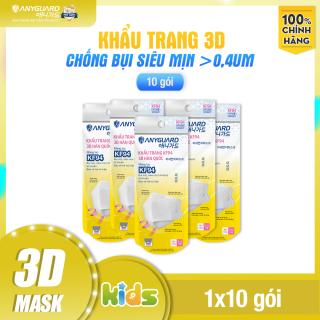 ComBo 10 Chiếc Khẩu Trang Trẻ Em KF94 - Form 3D Cao Cấp Chống Bụi Siêu Mịn 0.4um Anyguard Hàn Quốc Chính Hãng - 4 Lớp - - Face Mask For Kids thumbnail
