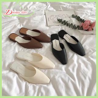 Dép sục nữ Hàn Quốc, chất liệu nhựa giả da siêu đẹp, không sợ đi dưới mưa, gót cao 1,5cm lót em chân thoải mái phù hợp đi chơi đi làm - Dozimax store thumbnail