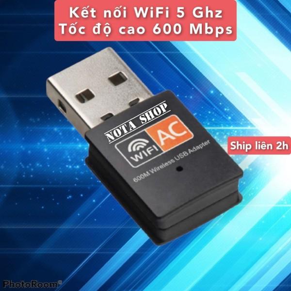 Bảng giá [CÓ SẴN] Kết nối WIFI 5G, thu sóng wifi 5 Gigabit AC bằng USB wifi, tốc độ cao 600Mbps cho máy bàn pc laptop, có 5G Hz Phong Vũ