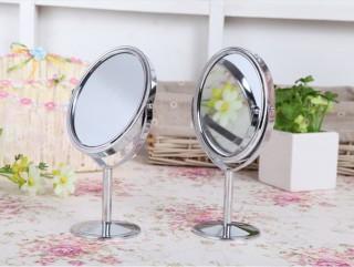 Gương tròn trang điểm 2 mặt gương - Gương để bàn 2 mặt tiện lợi - Gương soi 2 mặt xoay 360 độ thumbnail