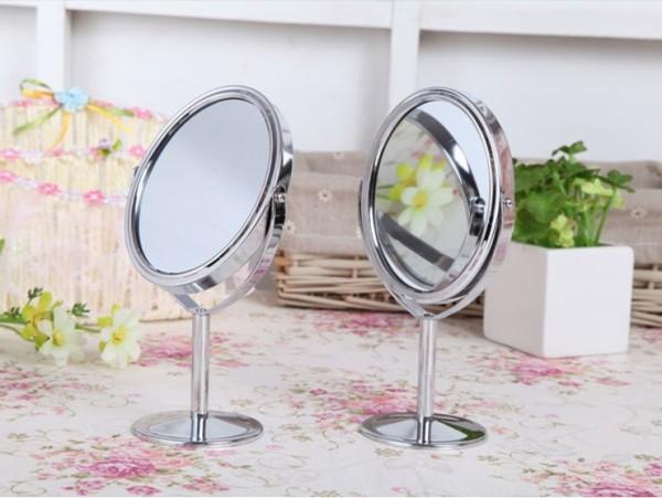 Gương tròn trang điểm 2 mặt gương - Gương để bàn 2 mặt tiện lợi - Gương soi 2 mặt xoay 360 độ giá rẻ