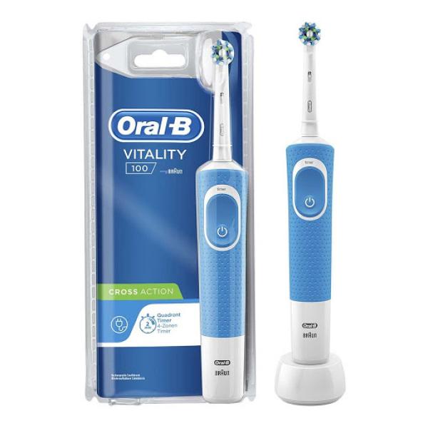 Bàn Chải Đánh Răng Điện Braun Oral-B Vitality 100 - Blue Edition -  BH 12 tháng - 1 đổi 1 trong 7 ngày giá rẻ