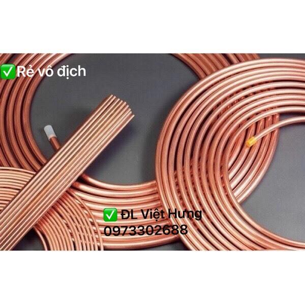 Ống đồng điều hòa - ống đồng toàn phát - ống đồng điều hòa phi 10 x0,71 x 15 mét 1 cuộn