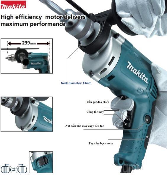 Máy khoan cầm tay Makita hp1630 công suất 710W - Máy khoan có chế độ búa khoan tường, khoan gạch, gỗ ,sắt