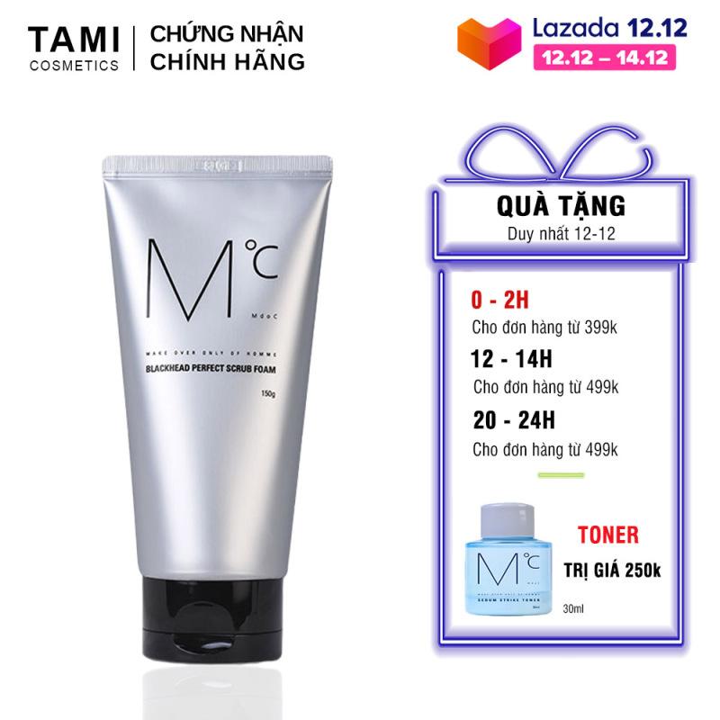 Sữa rửa mặt nam sạch mụn đầu đen MdoC Blackhead Perfect Scrub Foam 150g TM-MRM02