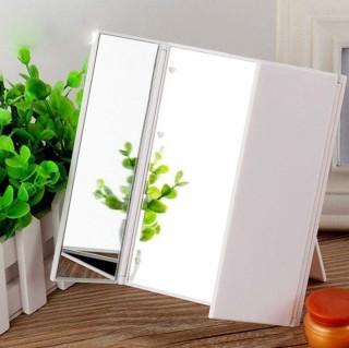Gương trang điểm đèn led 3 mặt gấp gọn, tiện lợi, dễ sử dụng thumbnail