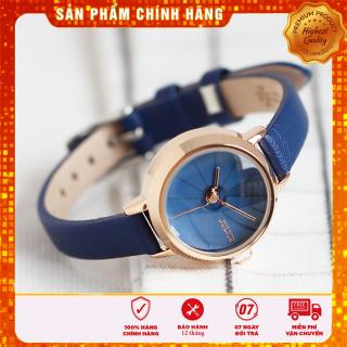 Đồng hồ nữ Julius Hàn Quốc JA-979D dây da (xanh) thumbnail