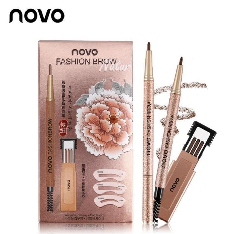 Bộ chì kẻ mày định hình 3 kiểu Novo Fashion Brow