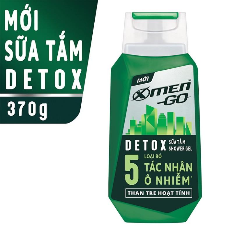 X Men -   Sữa tắm X-Men Go DETOX Than Tre Hoạt Tính 370G  - Giá Sỉ