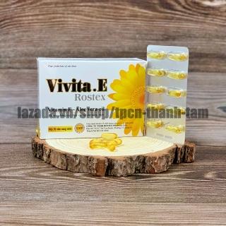 Viên uống đẹp da Vitamin E 4000mcg, tinh dầu lô hội làm đẹp da, chống lão hóa - Hộp 30 viên thumbnail