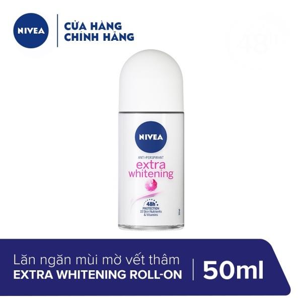 Lăn Ngăn Mùi Trắng Mịn Mờ Vết Thâm Nivea Extra Whitening Roll-on 50ml - 83747