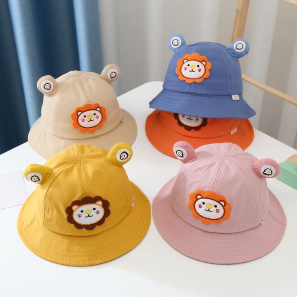 Giá bán Mũ nón trẻ em vành tròn hình sư tử cho bé gái 1-3 tuổi (MUTE07)