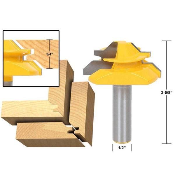 Mũi dao phay ghép góc vuông cốt 12ly7 - Mũi soi máy phay gỗ router cầm tay