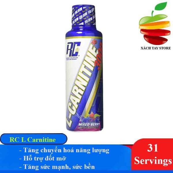 Thực Phẩm Bổ Sung Hỗ Trợ Giảm Mỡ Syrup RC L Carnitine 3000mg 31 Lần Dùng - Giảm Mỡ Tự Nhiên Dạng Nước Cực Ngon - Pink Lemonade