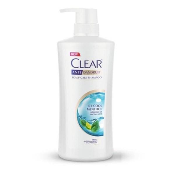 Dầu gội Clear mát lạnh bạc hà 480ml  - Thái Lan giá rẻ