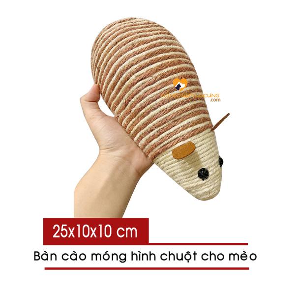 Bàn cào móng cho mèo hình con chuột 25cm