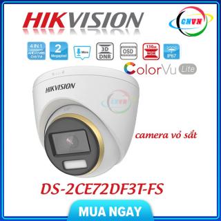 Camera màu 24 7. Camera 4 in 1 2.0 Megapixel HIKVISION DS-2CE72DF3T-FS. Hàng Chính Hãng. - Công Nghệ Việt Nam thumbnail