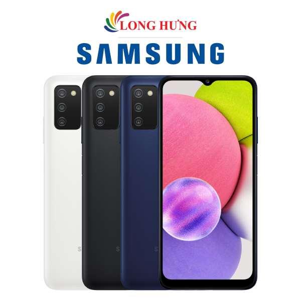 Điện thoại Samsung Galaxy A03s (4GB/64GB) - Hàng Chính Hãng - Thiết kế thời trang, viên pin dung lượng lớn 5000mAH, bộ 3 Camera cực đỉnh chính hãng