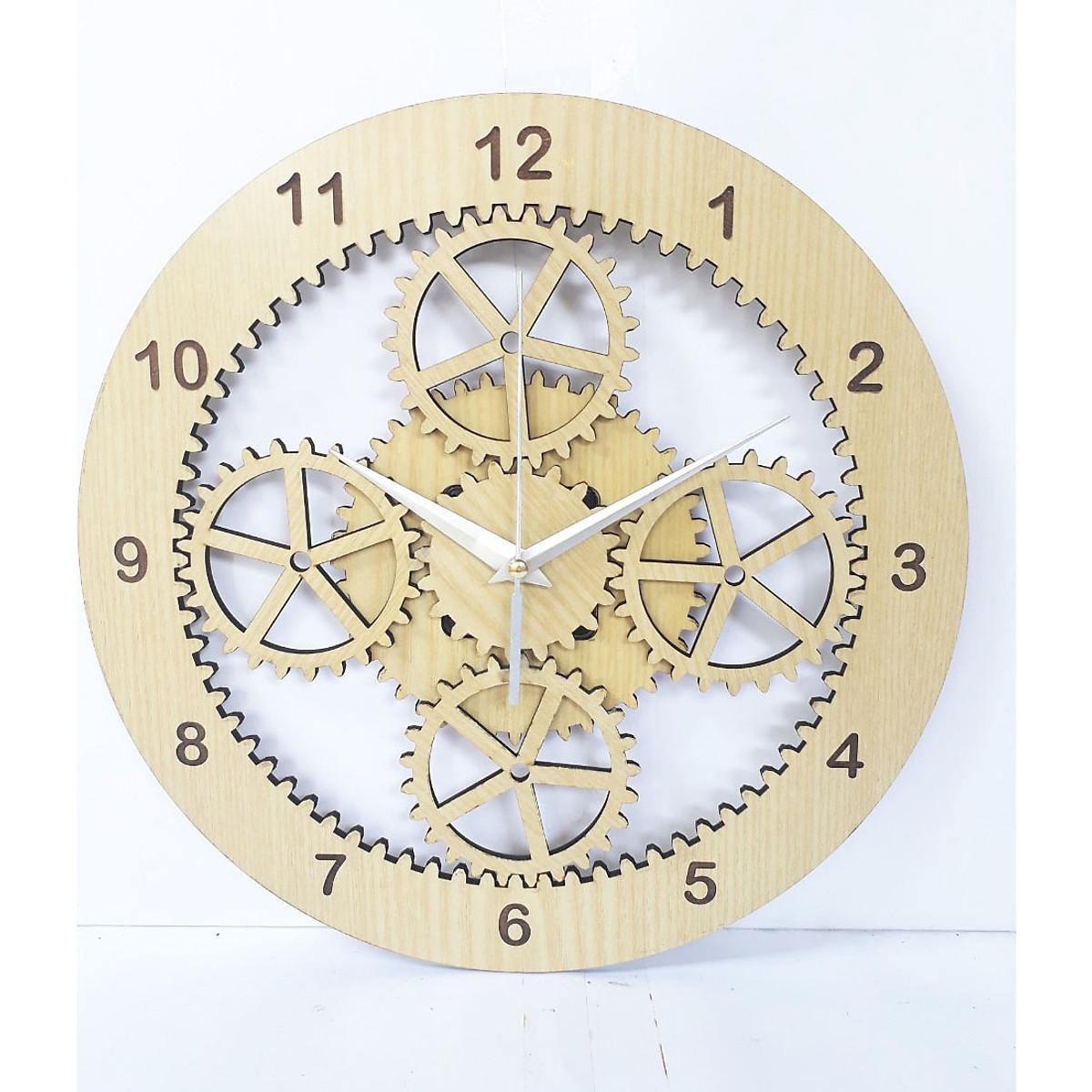 đồng hồ treo tường hình bánh răng mới lạ