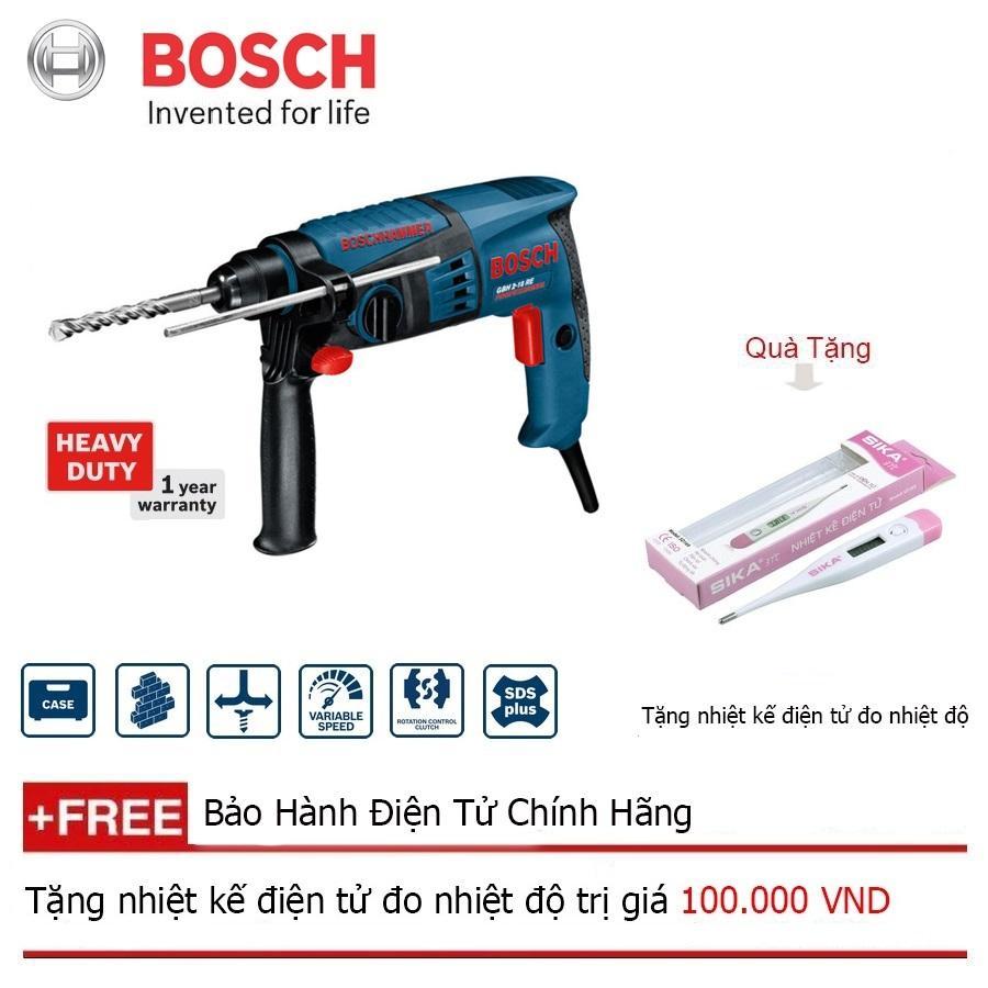 Máy khoan búa Bosch GBH 2-20 RE + Quà tặng nhiệt kế điện tử