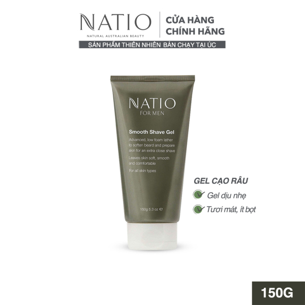 Gel Cạo Râu Natio For Men Smooth Shave Gel 150g
