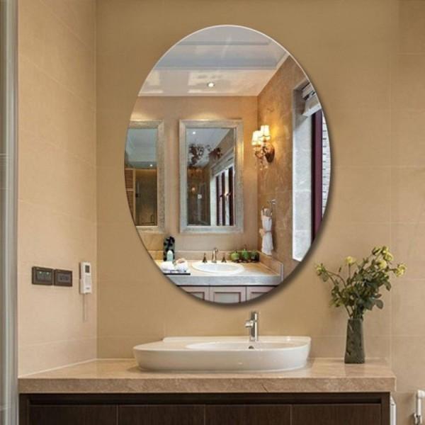 [Hot] Tấm gương dán tường hình OVAL, Gương acrylic hình oval dán tường trang trí nhà cửa, nhà tắm, Gương dán tường bình BẦU DỤC 42x27cm