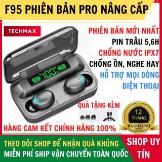 Tai Nghe Bluetooth AMOI F95 Phiên Bản Plus Nút Cảm Ứng Pin Trâu 3500Mah, Chống Nước, Micro 2 Bên - Tai Nghe Bluetooth 5.0 - Tai nghe bluetooth pin trâu - Tai nghe nhét tai không dây bluetooth, - Tai nghe i7s, i9s, i11s, Amoi f9 thumbnail