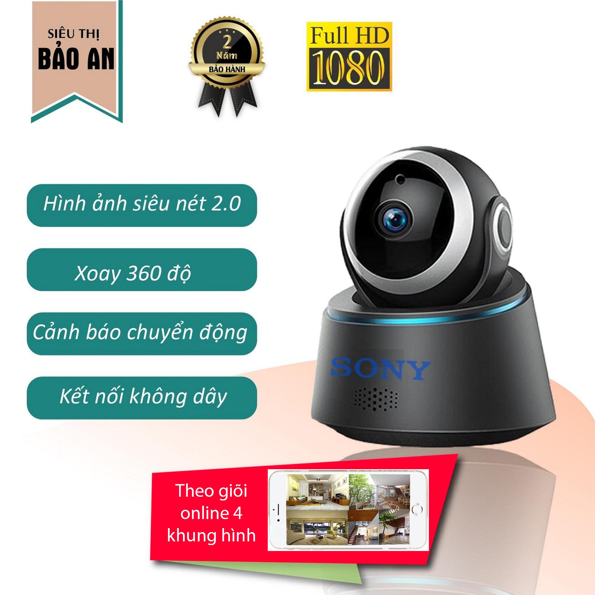 Voucher tại Lazada cho [Có Video] Camera Wifi Sony Full HD 1080 2.0 MP Xem Từ Xa Qua điện Thoại Quay đêm Hình ảnh Sắc Nét - Bảo Hành 12 Tháng