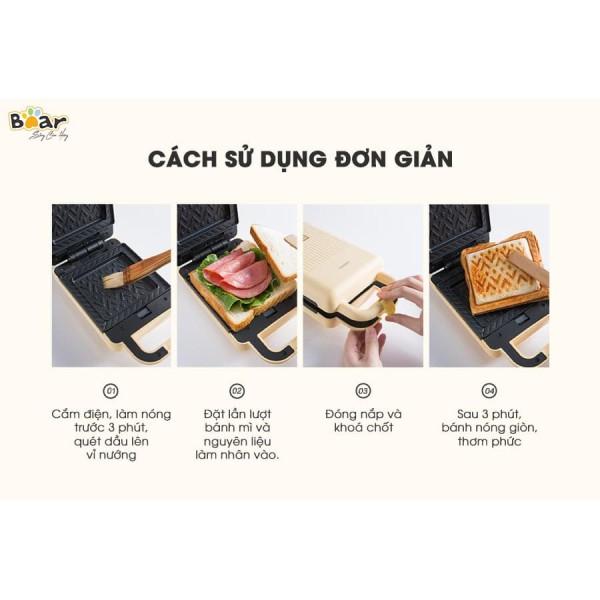 Máy nướng bánh mì Sandwich đa năng Bear DBC-P06N2 - dòng máy làm bánh mì kẹp sandwich cực tiện lợi và nhanh chóng