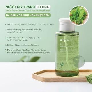 Nước Tẩy Trang Cho Da Dầu Mụn Innisfree Green Tea Cleansing Water 300ml thumbnail