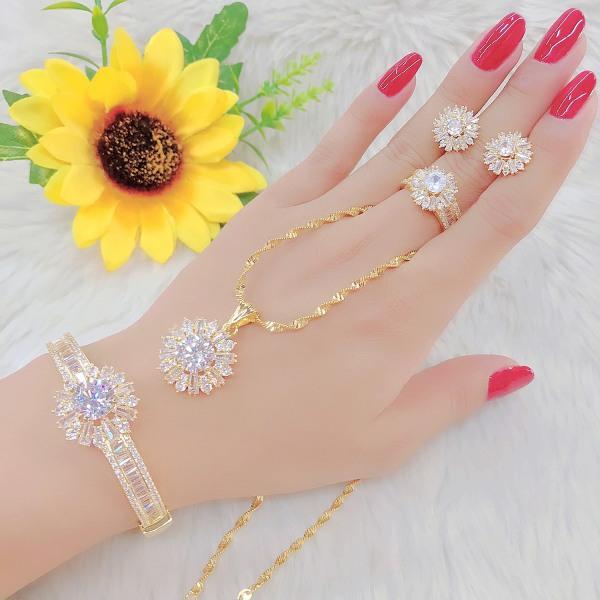 Bộ Trang Sức Giá Rẻ - Givishop - B4170564 - [ Chất liêu bạc pha, cam kết không đen không dị ứng ] - bộ trang sức vàng 18k, vàng trang sức, bộ trang sức vàng tây, bộ trang sức vàng trắng, bộ trang sức vàng, bộ trang sức cưới vàng 24k