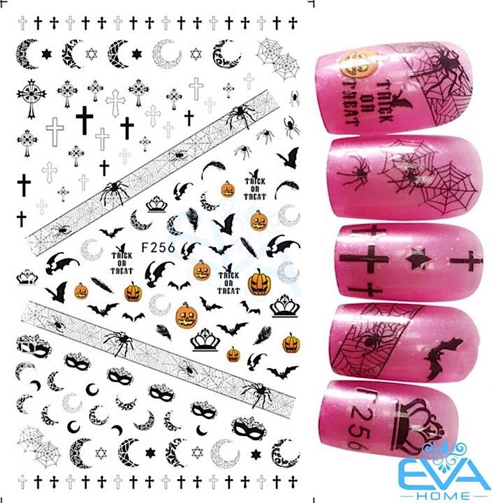 Miếng Dán Móng Tay 3D Nail Sticker Tráng Trí Lễ Hội Ma Quỷ Halloween F256 chính hãng