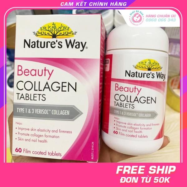 Collagen viên Natures Way Beauty Collagen Booster 60 viên - Xuất xứ Úc(Vỏ mới ) giá rẻ