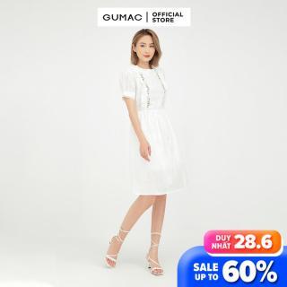Đầm nữ babydoll thêu GUMAC mẫu mới DB515 Chất Liệu Vải XÔ style trẻ trung thumbnail