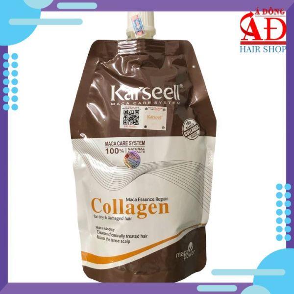 [Chính hãng] Dầu ủ tóc Collagen Karseell Maca siêu mềm mượt cho tóc khô hư tổn 500ml (Túi) giá rẻ