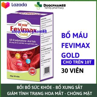 Viên uống bổ sung sắt Acid Folic cho bà bầu phụ nữ có thai - người hoa smawts chóng mặt Bổ máu Fevimax 60 viên HSD 2023 thumbnail
