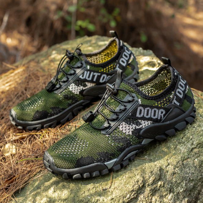 Hiking shoes outdoor shoes breathable shoes rubber non-slip soles lightweight and comfortable giá rẻ