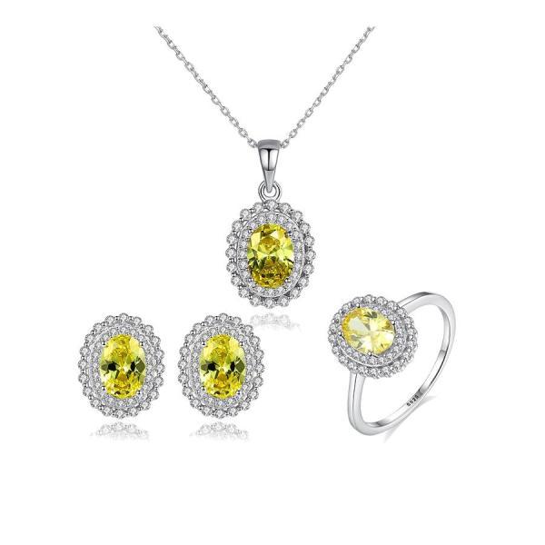 Bộ Trang Sức Bạc Nữ Bằng Bạc S925 Italy Trang Sức Đính Đá Cao Cấp BNT615 Bảo Ngọc Jewelry Có 3 Món [THIẾT KẾ ĐỘC QUYỀN]