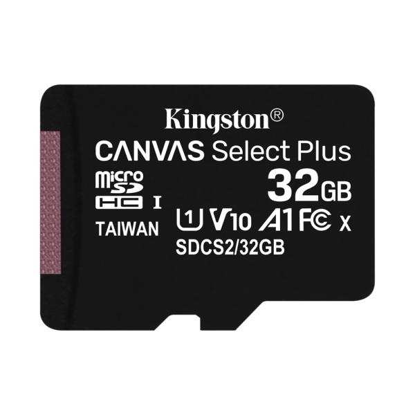 Thẻ Nhớ MicroSDHC Kingston Canvas Select Plus 32GB Class 10 U1 100MB/s - Hàng chính hãng (không kèm Adapter)