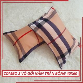 [GIẢM GIÁ SỐC] Combo 2 vỏ gối ngủ (40x60cm) 100% TRẦN BÔNG , , hàng VN cao cấp -2 VỎ GỐI NẰM -VỎ GỐI thumbnail