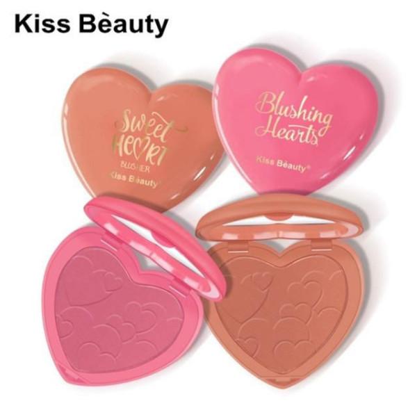 Phấn má trái tim Kiss Beauty blushing, sweet heart giá rẻ
