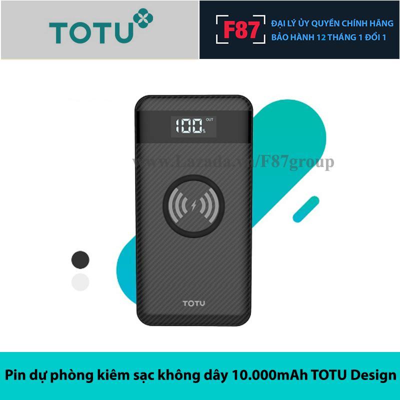 Pin dự phòng kiêm sạc không dây 10.000mAh hãng TOTU Design