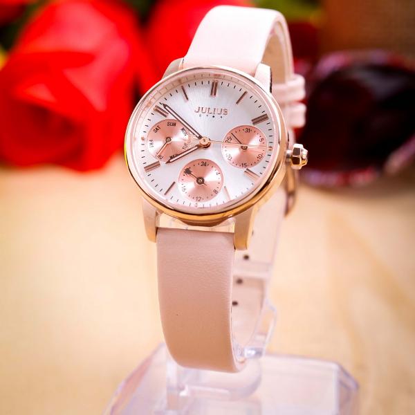 Đồng hồ nữ Julius Star Hàn Quốc JS-023 mặt kính Sapphire chạy 6 kim