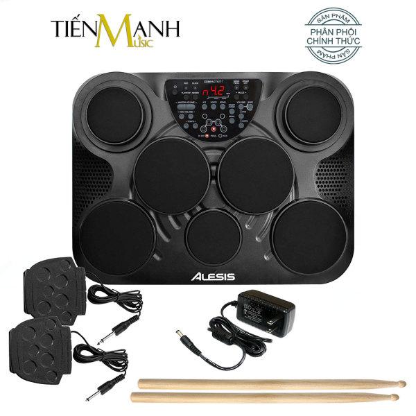 [Chính Hãng Mỹ] Bộ Trống Điện tử Alesis 7 Mặt Compactkit Ultra-Portable 7-Pad (Electronic Portable Digital Drum Kit - Nguồn, Dùi Trống, Pedal)
