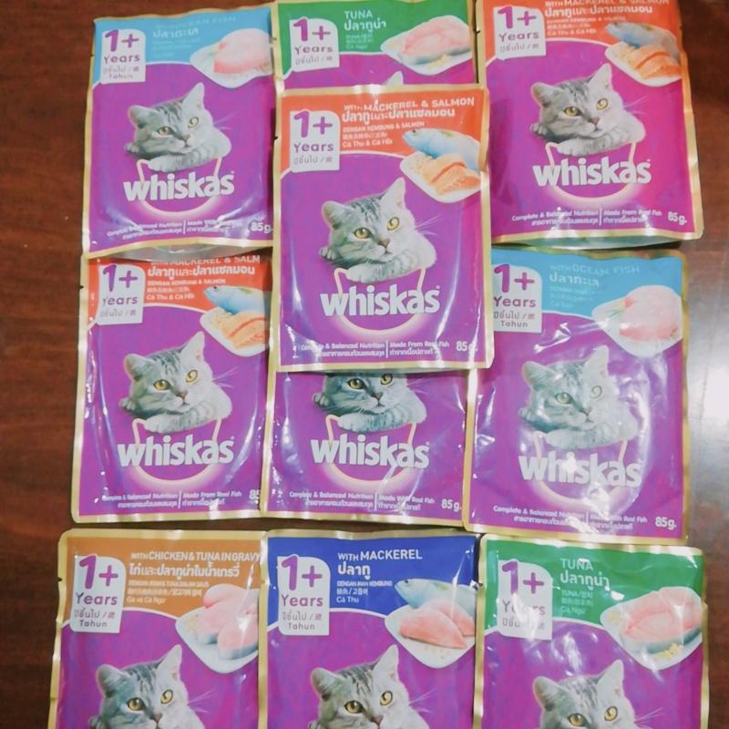 Combo 10 Gói Pate Whiskas Cho Mèo Từ 1 Tuổi Trở lên