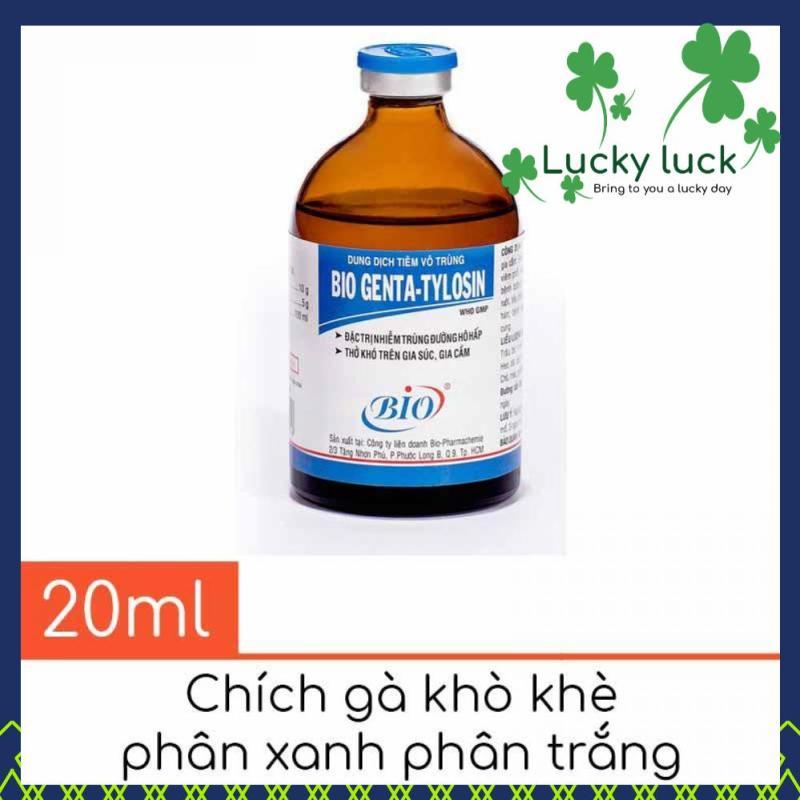 Thuốc tiêm khò khè phân xanh phân trắng - Bio Genta Tylo 20ml