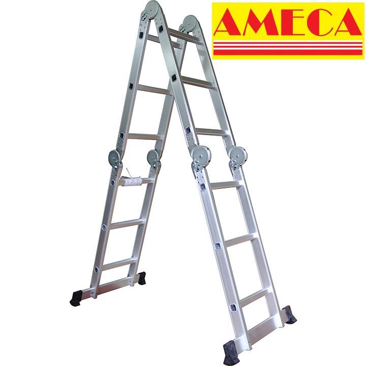Thang gấp 4 khúc AMECA M203 - 3,5m