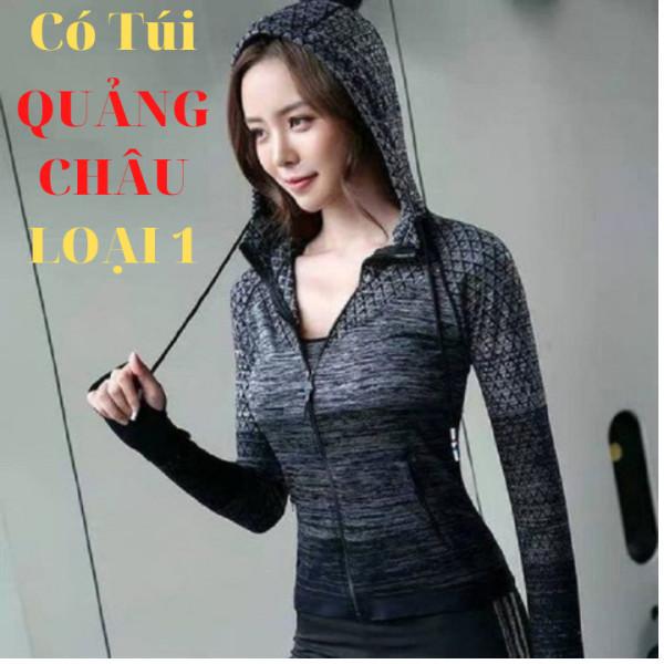 Áo khoác nữ trám Quảng Châu CÓ Túi